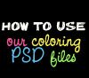 Using coloring PSD file