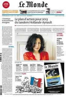 Le Monde et Le Monde des Livres du Vendredi 4 Janvier 2013